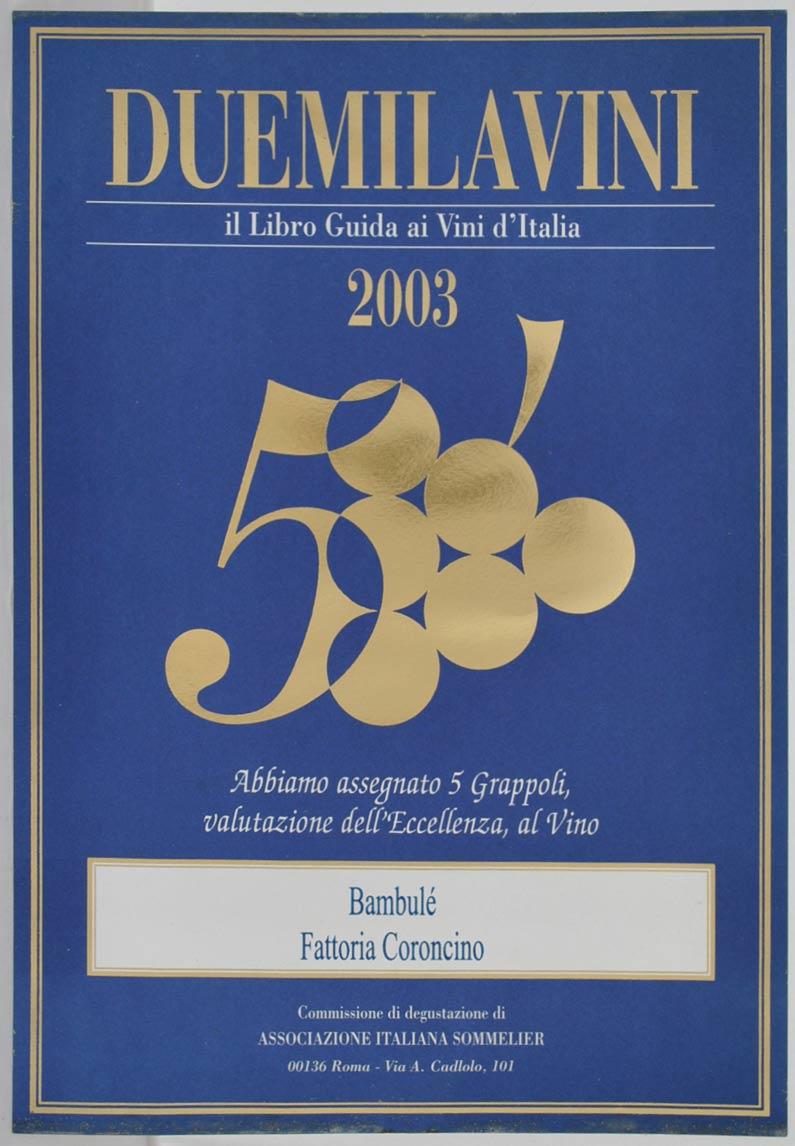Bambulè 1996: 5grappoli A.I.S. 2003