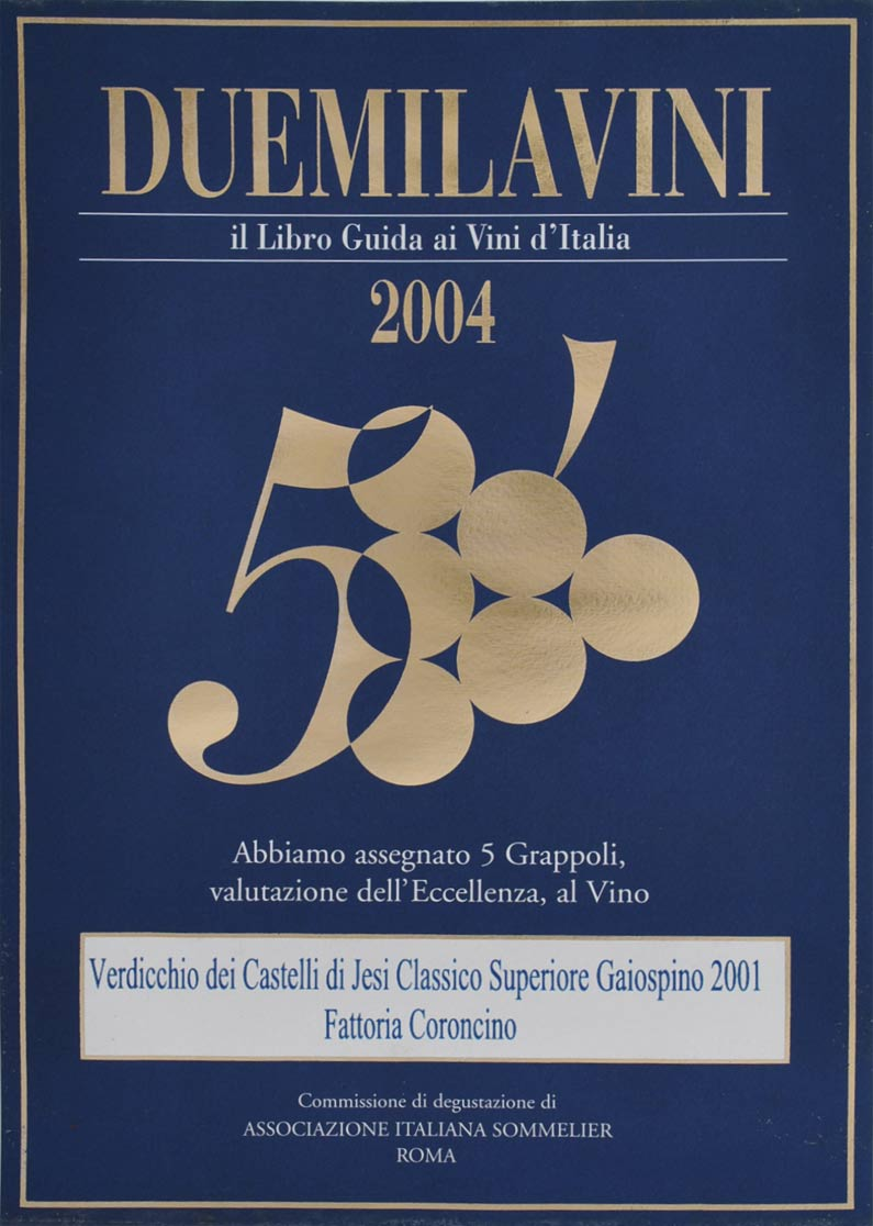 Gaiospino 2001: 5grappoli A.I.S. 2004