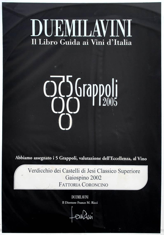 Gaiospino 2002: 5grappoli A.I.S. 2005