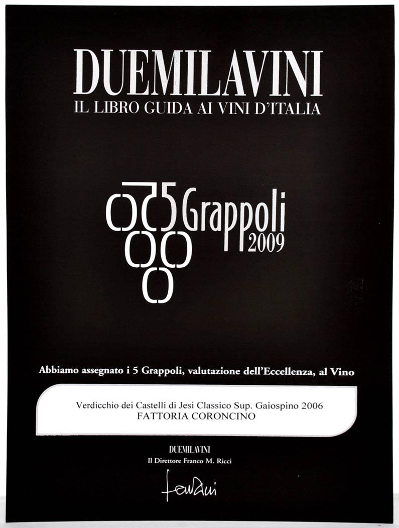 Gaiospino 2006: 5grappoli A.I.S. 2009