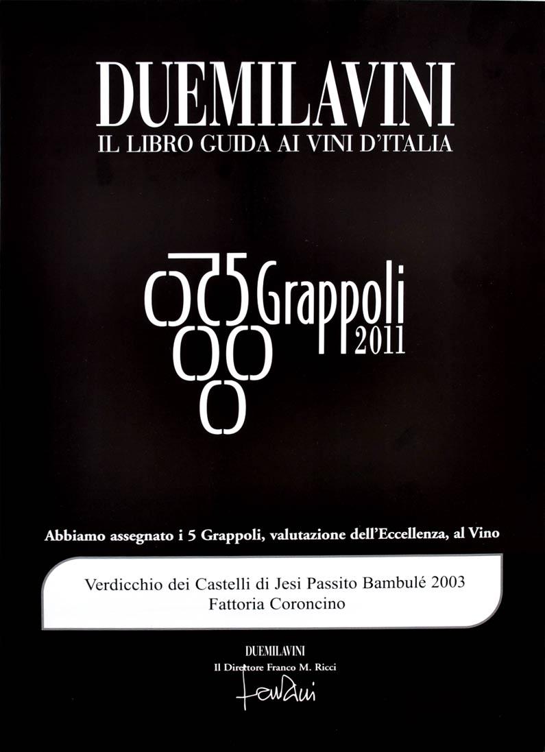 Bambulè 2003: 5grappoli A.I.S. 2011