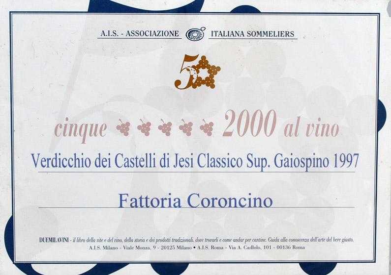 gaiospino 1997: 5grappoli 2000
