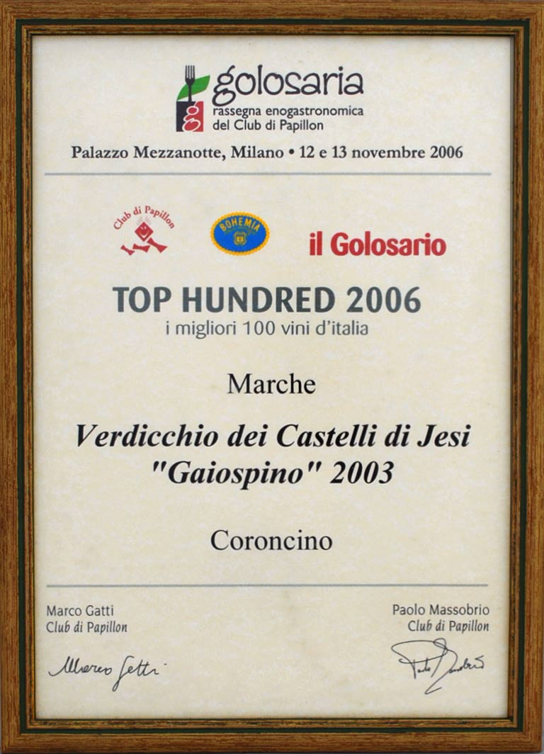 Gaiospino 2003: Top hundred 2006