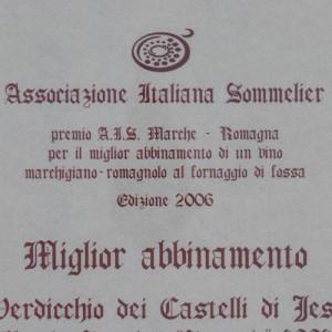 Stracacio 2003: Miglior abbinamento con il formaggio di fossa